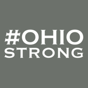 Ohio Strong - Adult Heather Colorblock T Design