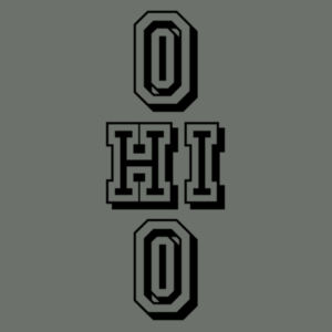Ohio Stacked - Adult Heather Colorblock T Design